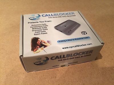 Cpr Callblocker - Boxed,instructions, Cable, Bnib, Phone Nuisance Call Blocker