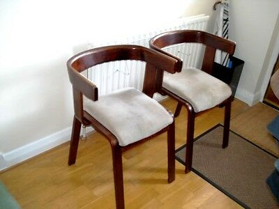 Pair Of Mid-Century Modern Bent Plywood Carver Chairs