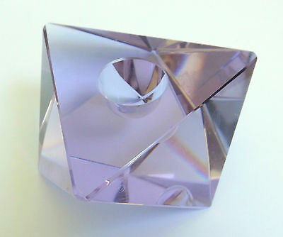 Faceted Czech Bohemian Alexandrite Neodymium Crystal Candle Holder