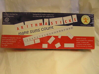 New unopened Wooden Arithmasticks make sums count.   Arithmetics