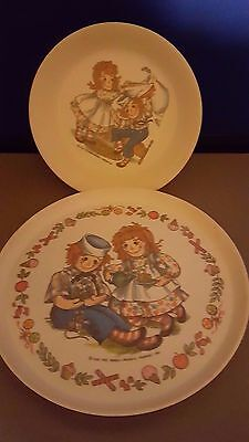 Antique Ragedy Ann and Andy Plastic Bowl and Plate