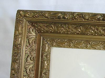 Vintage Art Nouveau Style Fancy Gold Ornate Frame with Wonderful Detail
