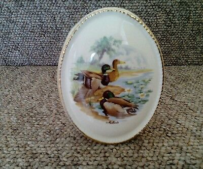 Vintage Szeiler Studio Pottery Posy Vase with Mallards.