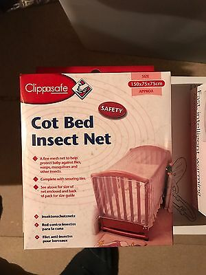 Clippasafe Cot Bed Insect Mosquito net (NEW)