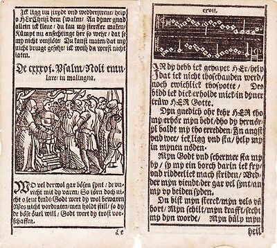 Very Early and RARE Book page leaves - Hamburg 1578. Illustrated 2 Pages
