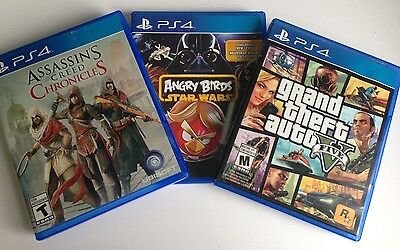 PS4 Games: 1 Owner, 3 Games Lot: GTA 5, Assassin's Creed, Angry Birds