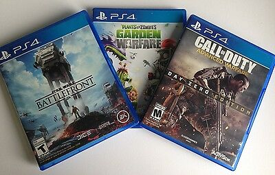 PS4 Games: 1 Owner, 3 Games Lot: Star Wars Battlefront, Call of Duty, PlantsVSZ!