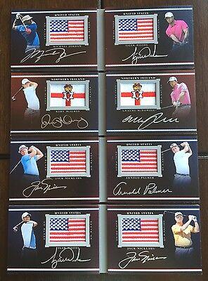 2014 Exquisite DUAL PRIDE OF A NATION (10) BOOKLET AUTO SET Michael Jordan Woods