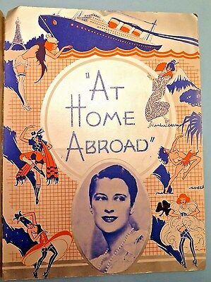 """Beatrice Lillie """"AT HOME ABROAD"""" Ethel Waters / Vincente Minnelli 1935 Program"""