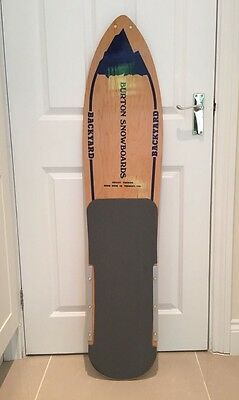 Vintage Burton Backyard 1984 Snowboard Grey Collectible RARE