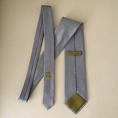 BRIONI Classic Timeless Designer Silk Tie EUC Grey Silver Hand Made in Italy