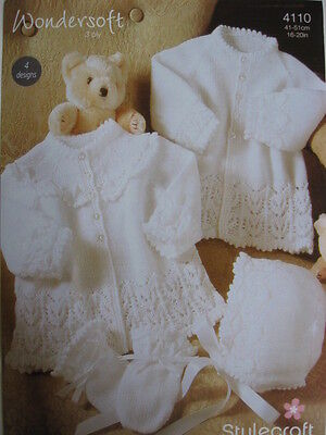 New Stylecraft Baby jackets, bonnets and mitts knitting pattern