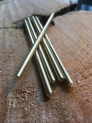 4mm x 100mm Brass Rod for Handle Making Knife Scales Pins Bushcraft