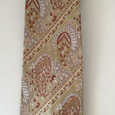 GIANNI VERSACE Vintage Timeless Designer Silk Floral Tie EUC Made in Italy