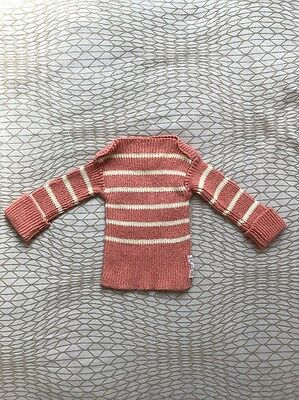 Pigaletto Independent Hand knit Brand Baby Sweater 0-3m Salmon Pink