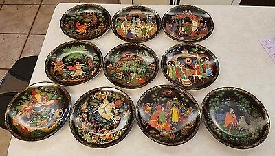 Russian Legends FIREBIRD Tianex Bradford-Exchange 10 Collector Plates 60-255-1.1