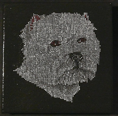 West Highland White Terrier westie puppy dog mosaic dot painting pet gift animal