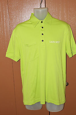 Galvin Green Men's TOUR Lime Yellow Golf Polo Shirt EXCELLENT USED
