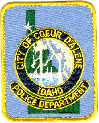 Coeur D´Alene Police Patch Idaho ID NEW