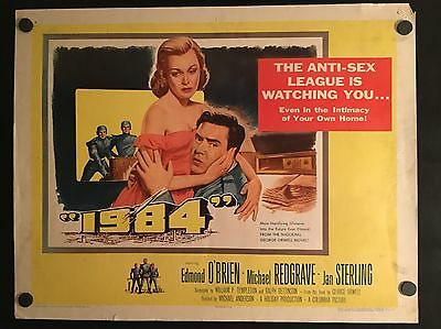 1984 Nineteen Eighty-Four ~ Original 1956 Movie Poster George Orwell Big Brother
