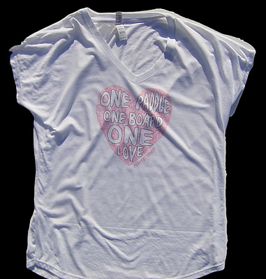 woman Coastal Nomad T-shirt stand up Paddle board SUP ocean one Heart shirt pink