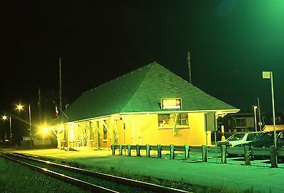 Via Rail (former CN Canadian National) station night view - Drummondville, QC