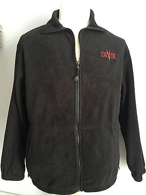 The View Talk Show Unisex Black Fleece Embroidered Crew Jacket Size L Whoppi