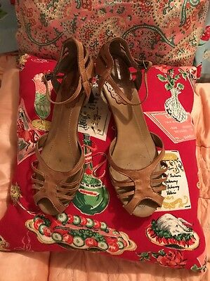 ❤️gorgeous Vintage Style 1940's Sandals Size Uk 8 Fab ❤️