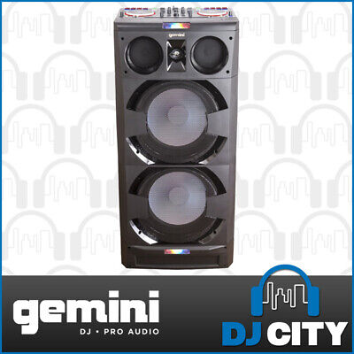 Gemini DJMIX-5000 All-In-One DJ Player Party Music Station w/ PA Speakers Lights