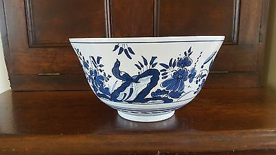 Hand Painted Royal Goedewaagen  DELFT Punch Bowl~ Holland
