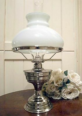 New Nickel Plated Kerosene Oil Lamp Deco Style