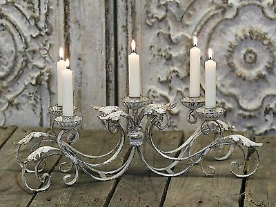 A Large Antique French Styled Reproduction Metal Table Candelabra Candle Holder