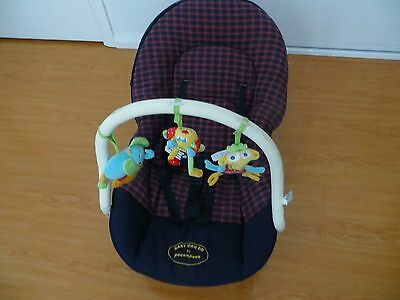 Baby Bouncer With Swing + 3 Hanging Animal Characters. In Good Clean Condition.