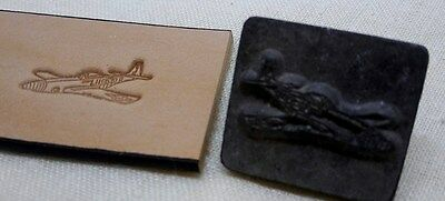 Rare Vintage Craftool Discontinued P-51 Mustang Leather Embossing Stamp