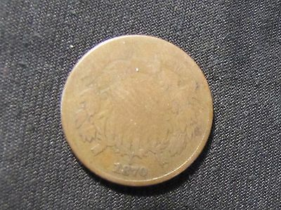 1870 2 Cents Coin 2 Cent Piece