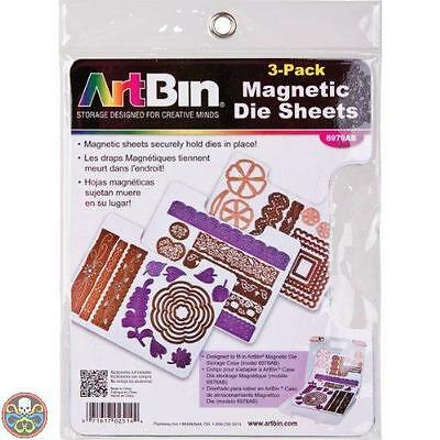 Art Bin White Artbin 6979Ab Magnetic Die Sheets Pack Of 3 Nuovo