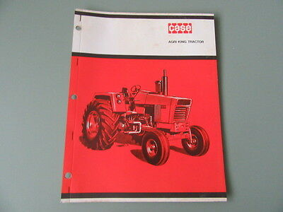 1969 Case Agri King Tractor Booklet Brochure