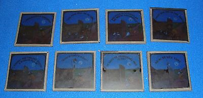 Vintage Black Americana Magic Lantern Where theres a will theres a way 8 pc Set