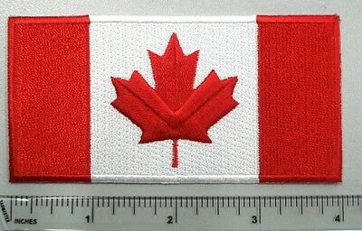 Canada Flag crest 4pcs,4in patch-100% high quality emb. flag with glue back