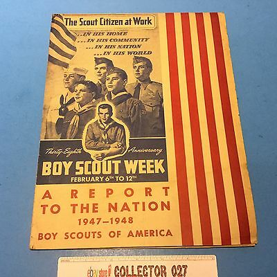 Boy Scout 1947-1948 Report To The Nation The Scout Citizen At Work