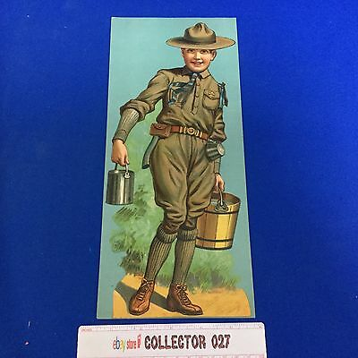 """Boy Scout Vintage Poster 5 1/2"""" X 12"""" Scout with Water"""