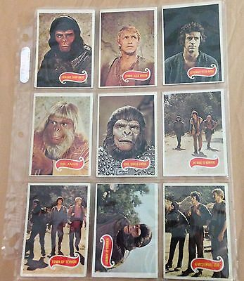 Planet Of The Apes TV Series 1975 Topps Full Set Of 66 Vintage Trading Cards EXC