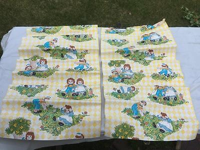 Vintage 1970's RAGGEDY ANN & ANDY Unused Contact Paper Wallpaper Decor Rolls