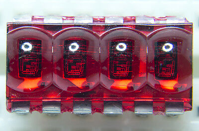 Retro 4-digit VINTAGE RARE BUBBLE RED LED Display QDSP6064 HP 6064 Arduino 4bit