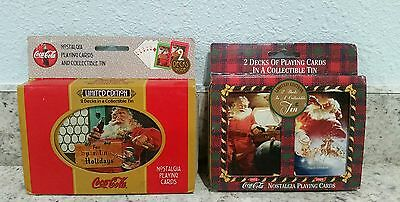 lot of 2 Coca-Cola collectible playing cards