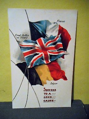 ''The Flags of the Allies'' Vintage Postcard,WWI,France,Belgium... #10