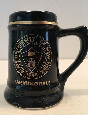 Souvenir Mug University of New York 1948 Farmingdale, NY Miniature Shot Glass