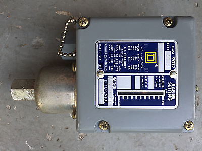 Square D 9012-Acw8 Pressure Switch 20-180 Psi **new**