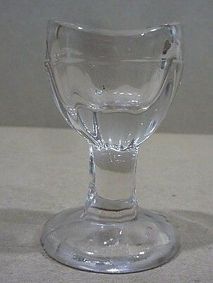 Antique Vintage Eye Wash Cup Clear Glass, Long Stem Base.