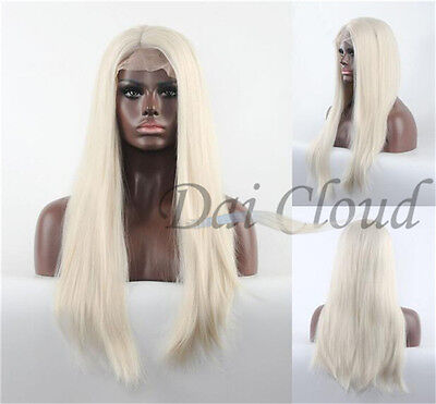 Lace Front Wig Long Blonde Synthetic Wigs Hair Heat Resistant New Women Wigs